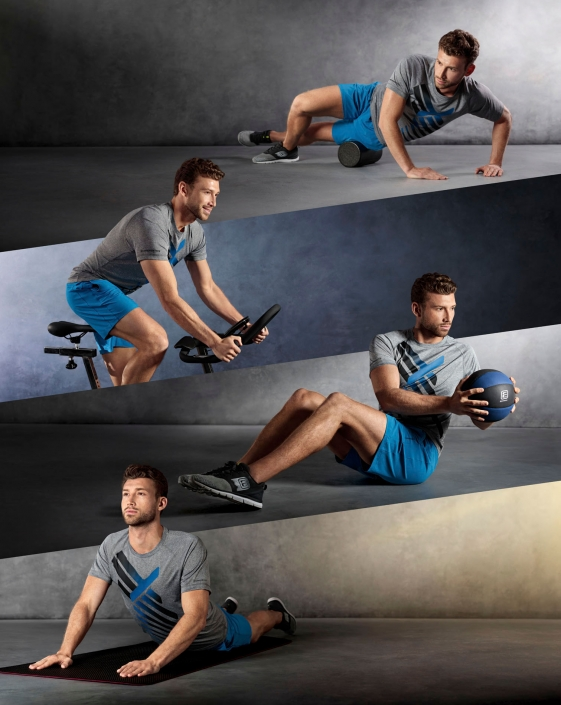 compositing of 4 men in intersport energetics sports dress from tobiaswinkler-bildbearbeitung-muenchen