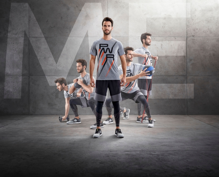 compositing of 5 men in intersport energetics sports dress from tobiaswinkler-bildbearbeitung-muenchen